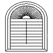 Sunburst Shutter with Frame
