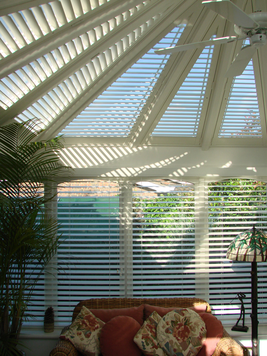 Conservatory shutters to reduce heat