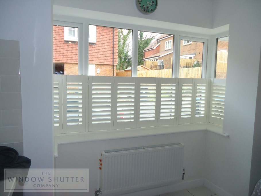 cafe style shutters by The Window Shutter Company
