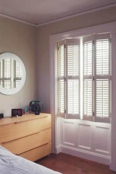 full height shutters bedroom