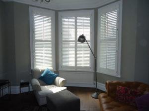 Full height shutters with tilt rod in Tonbridge