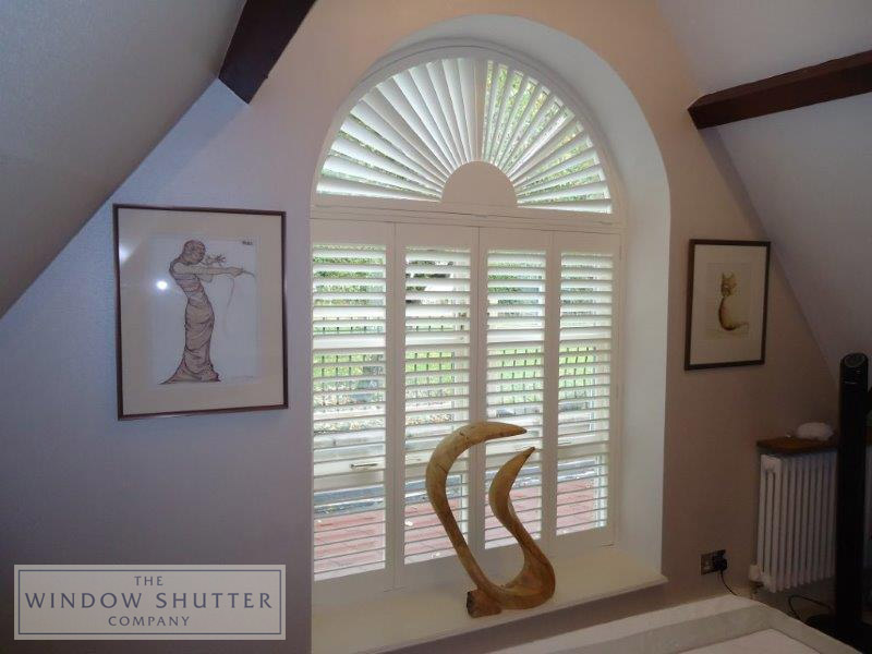Sunburst shutter order by The Window Shutter Company