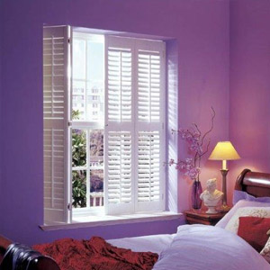 Bedroom shutters full height with mid rail