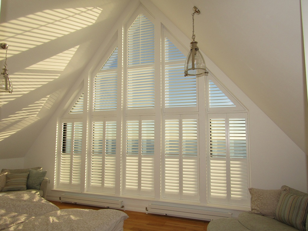 Shaped Shutter Installation For Apex Window In Hastings