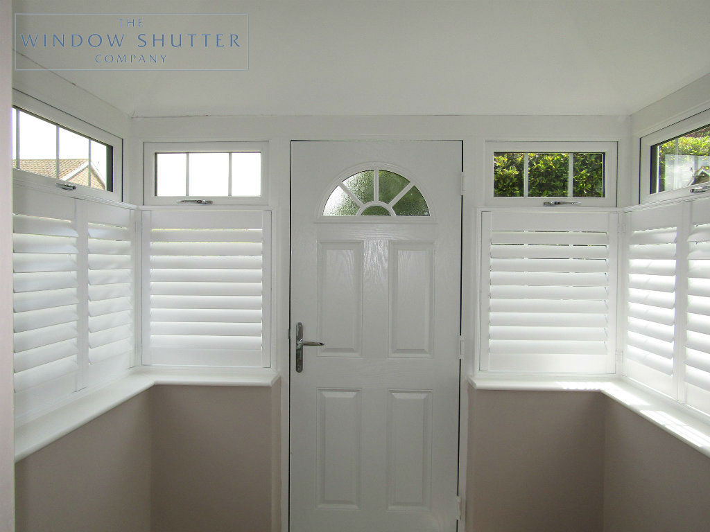 Cafe Shutters For Box Bay Windows In Porch In Uckfield