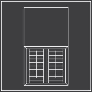 Cafe style window shutters diagram 300