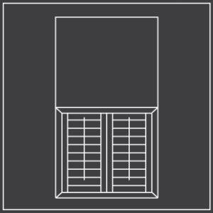 Cafe style window shutters diagram 300