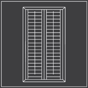 Full height window shutters diagram 300