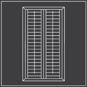 Full height window shutters diagram