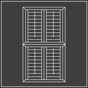Tier on tier window shutters diagram 300