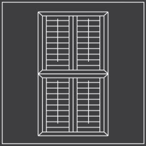 Tier on tier window shutters diagram 300