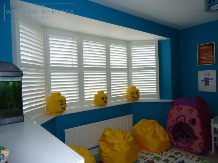 Full height shutter Georgia easy tilt nursery childs bedroom modern house Daventry Northamptonshire 1 2014