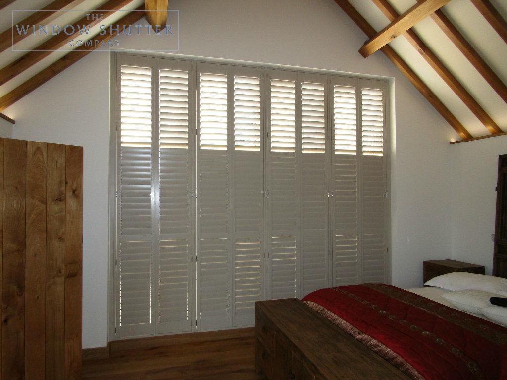 Full height shutter Boston Premium easy tilt bedroom barn conversion Henfield West Sussex 3 0917