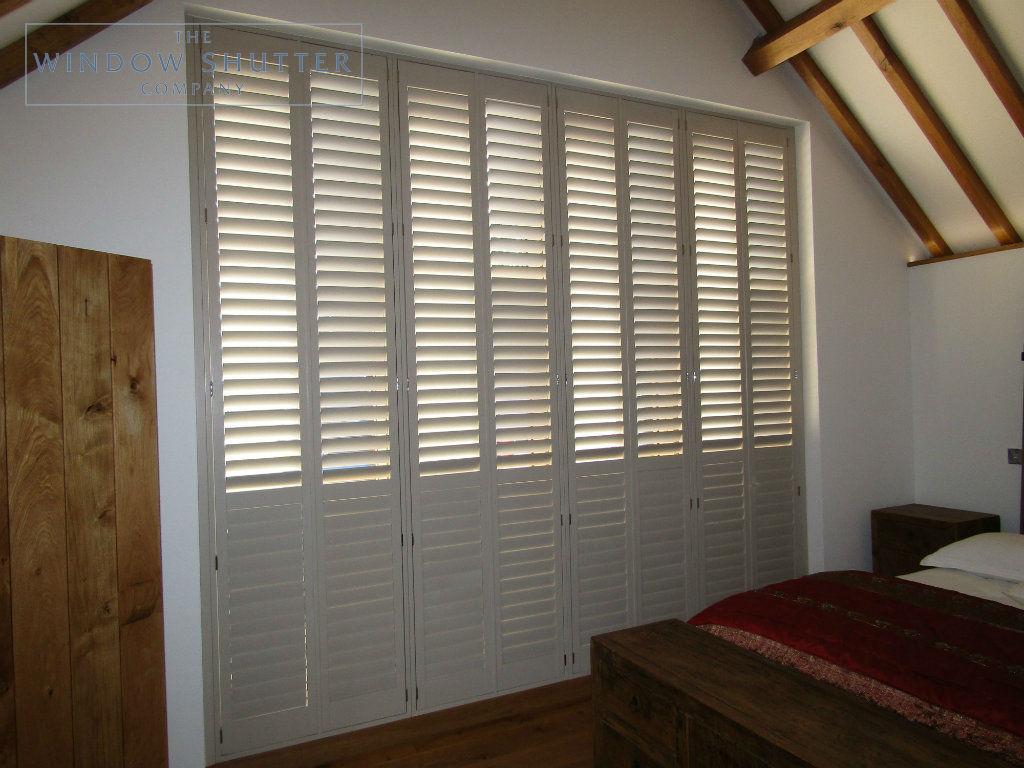 Full height shutter Boston Premium easy tilt bedroom barn conversion Henfield West Sussex 4 0917