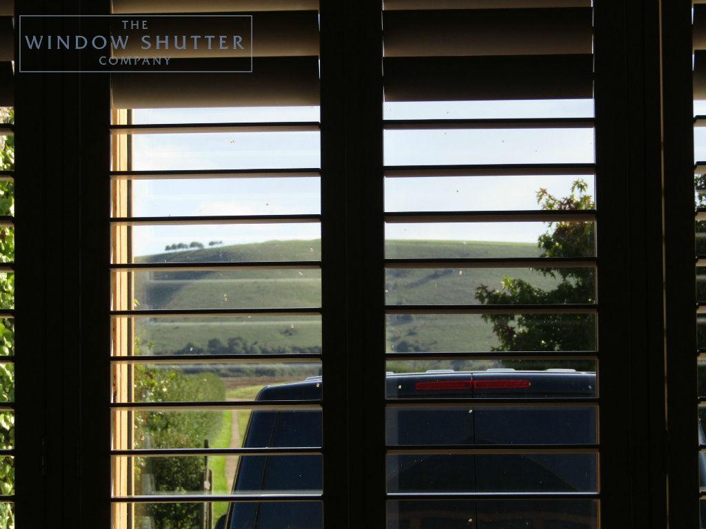 Full height shutter Boston Premium easy tilt bedroom barn conversion Henfield West Sussex 8 0917