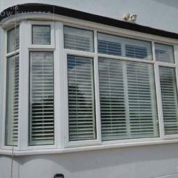 Full Height shutter Seattle tilt rod bay window lounge large house Fareham Hampshire 1 0610