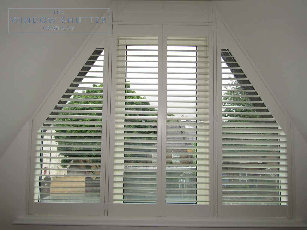 Shaped shutter Seattle easy-tilt bedroom 2 new build Teddington London 1 0616
