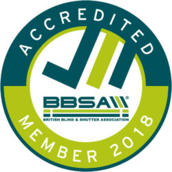 British Blind & Shutter Association (BBSA) accredited logo