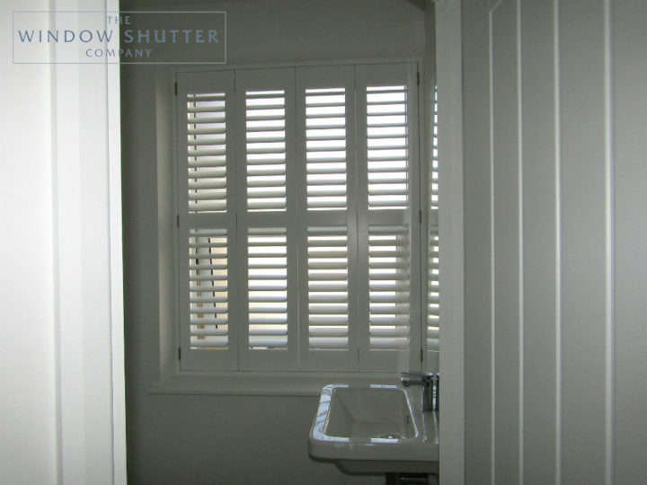 Full height shutter Seattle hidden tilt bedroom ensuite seafront apartment St Leonards-on-Sea, East Sussex