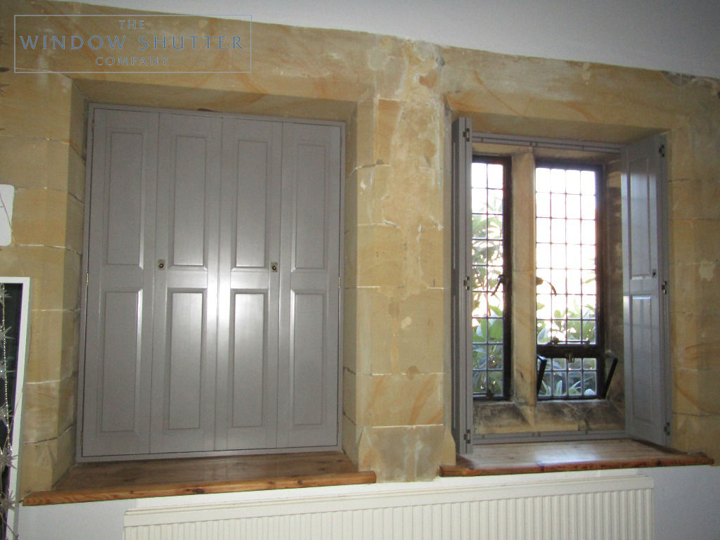 Solid shutters Boston premium hardwood mid-rail coloured period property East Grinstead Sussex 0319 2