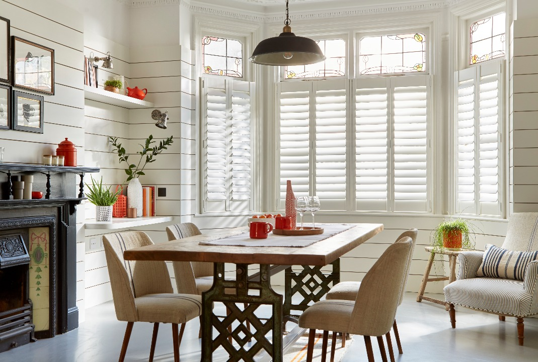 Boston white shutters