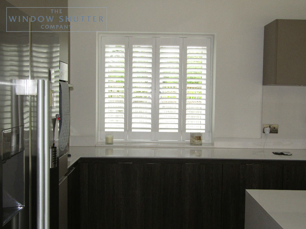 Full height shutters Seattle Pure White Kitchen Haywards Heath, West Sussex 0619