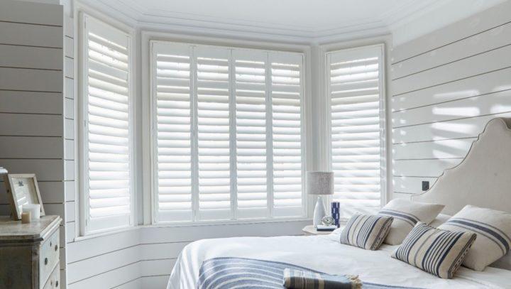 Bedroom Seattle Pure White window shutters