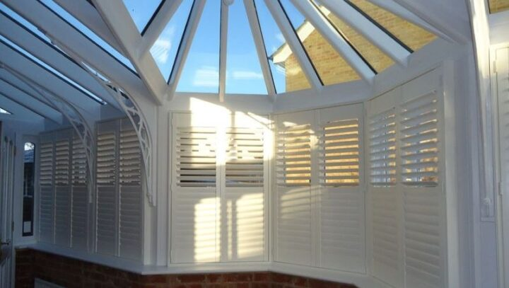 Conservatory shutters, Boston Premium hardwood, closed