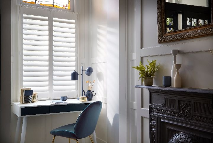 Kitchen-diner shutters, Boston, Decorators White