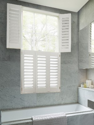 Shutters by room, bathroom