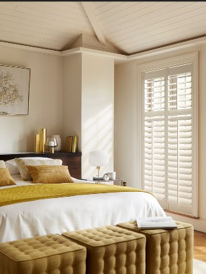 Shutters by room, bedroom