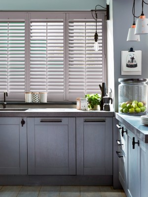 Shutters by room, kitchen/diner