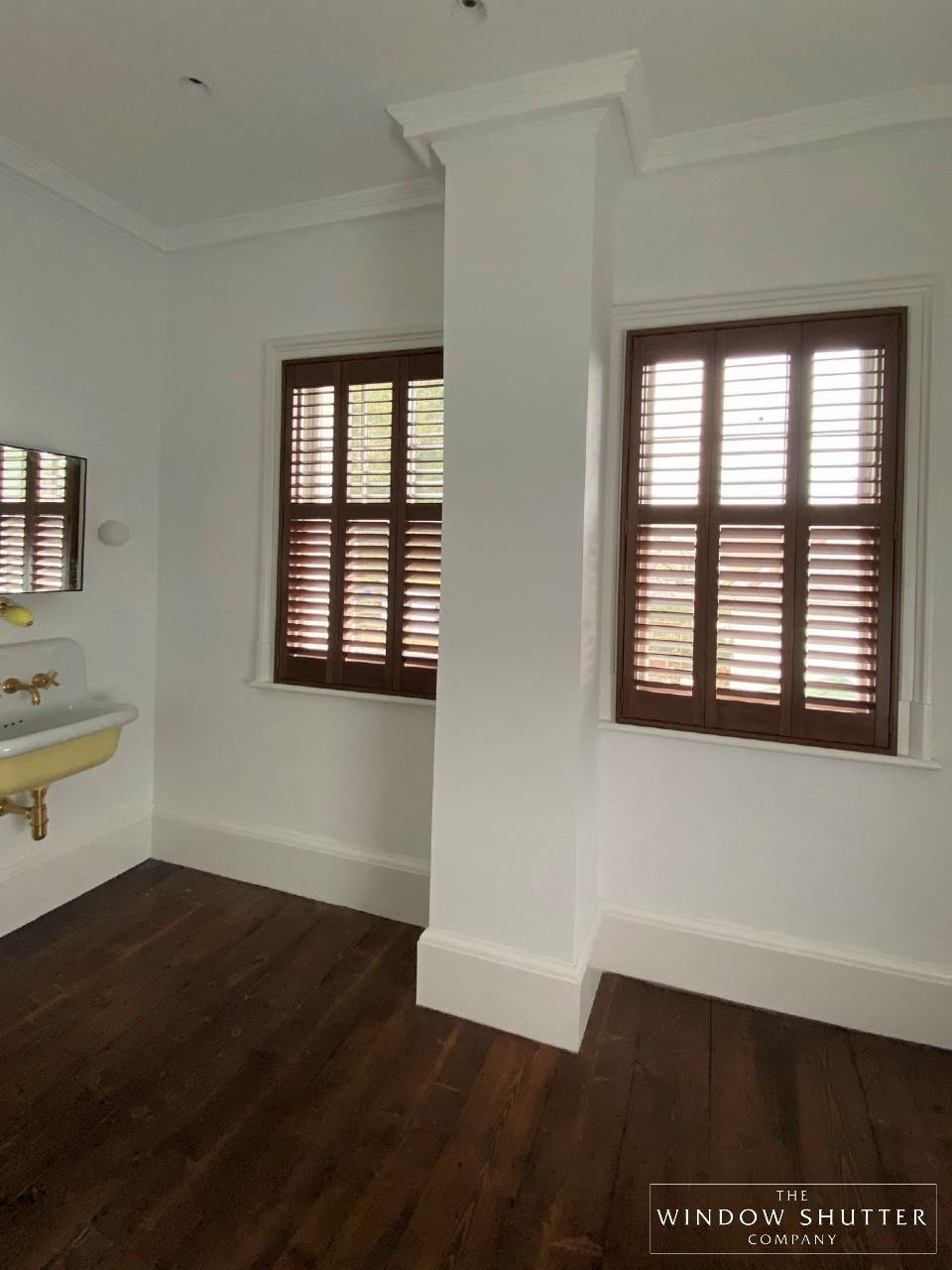 Full height shutters, hardwood
