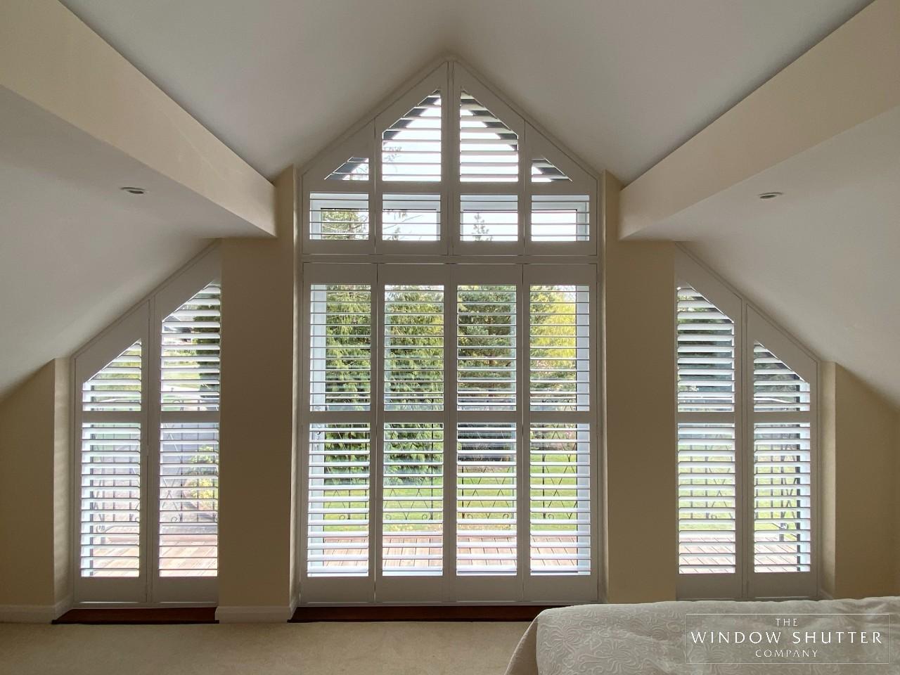 Shaped shutters, hardwood