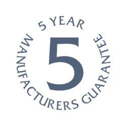 Shutters, five year guarantee