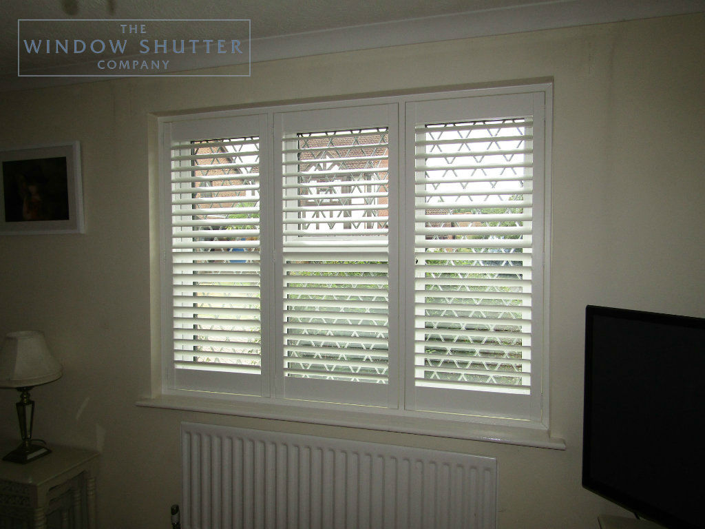 Full Height Shutters With Lead Light Windows In Burgess