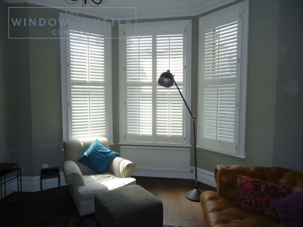 putting blinds on a bay window