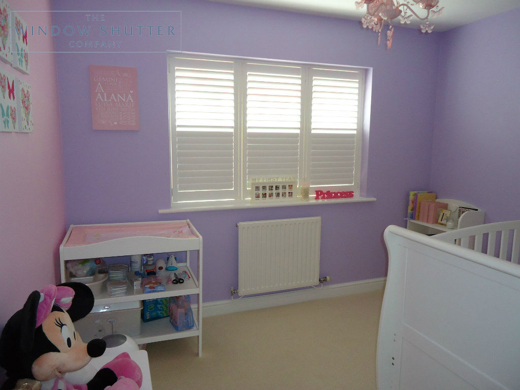 Full height shutter Georgia easy tilt nursery childs bedroom modern house Daventry Northamptonshire 2 2014