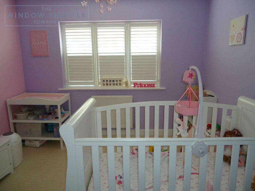 Full height shutter Georgia easy tilt nursery childs bedroom modern house Daventry Northamptonshire 3 2014
