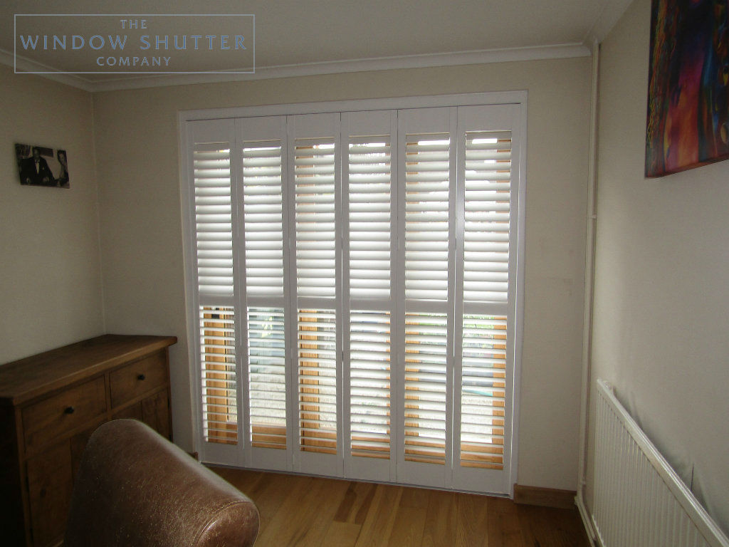 Tracked shutter Boston Premium Easy Tilt dining room door modern house Horsham West Sussex 1 0517