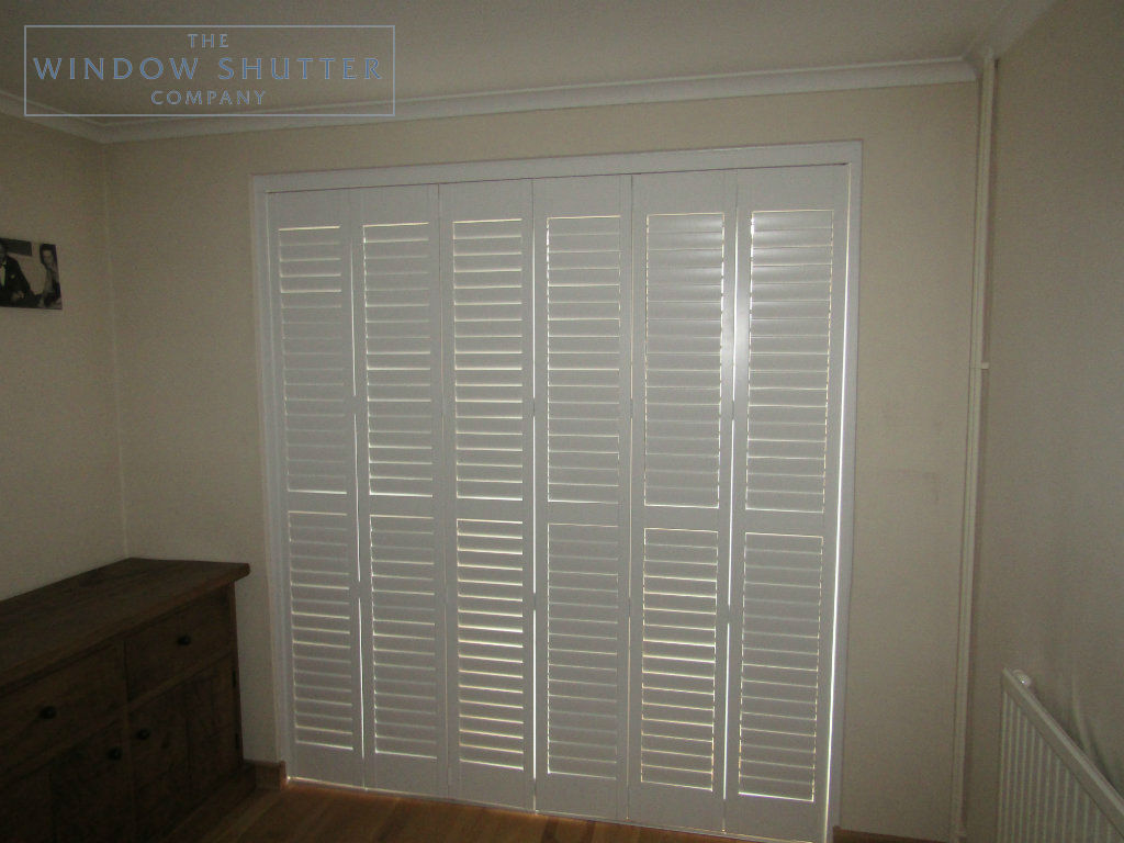 Tracked shutter Boston Premium Easy Tilt dining room door modern house Horsham West Sussex 3 0517