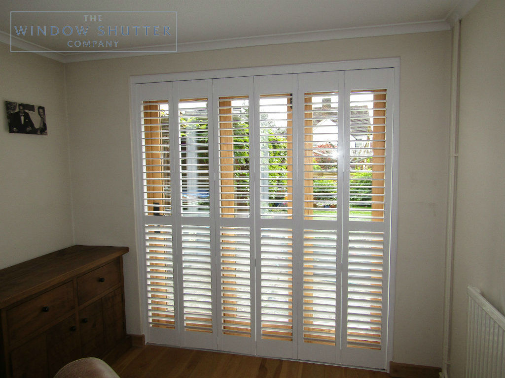 Tracked shutter Boston Premium Easy Tilt dining room door modern house Horsham West Sussex 4 0517