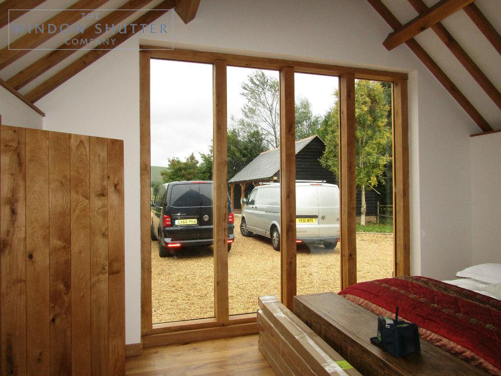 Full height shutter Boston Premium easy tilt bedroom barn conversion Henfield West Sussex 1 0917