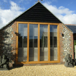 Full height shutter Boston Premium easy tilt bedroom barn conversion Henfield West Sussex 10 0917