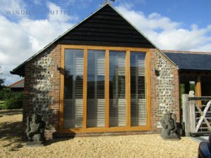 Bedroom shutters for stunning barn style conversion in Henfield, Sussex
