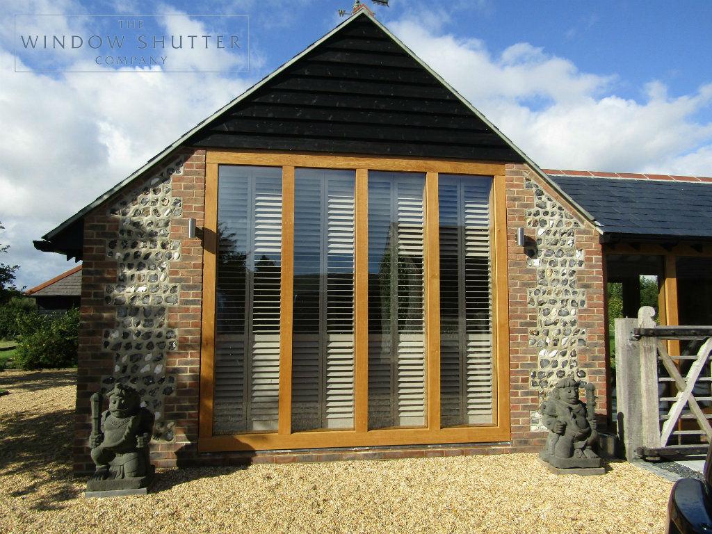 Full height shutter Boston Premium easy tilt bedroom barn conversion Henfield West Sussex 10 0917