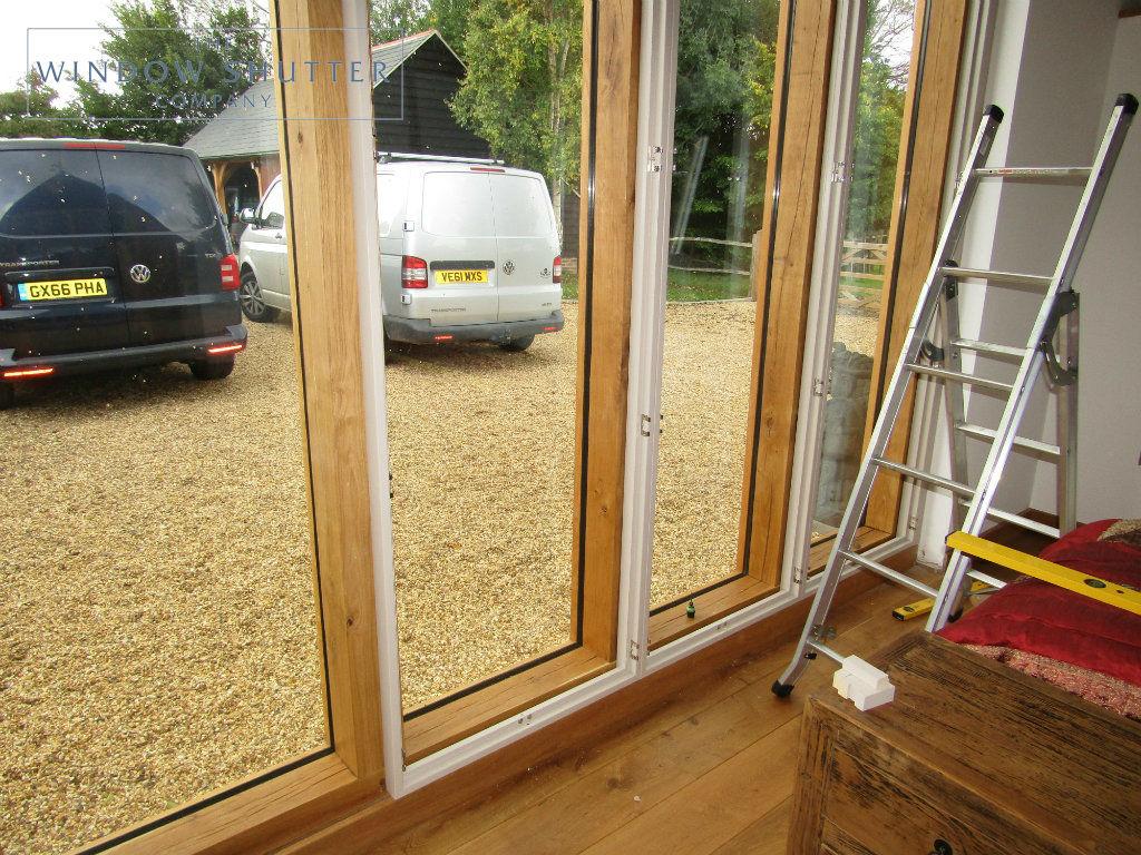 Full height shutter Boston Premium easy tilt bedroom barn conversion Henfield West Sussex 2 0917