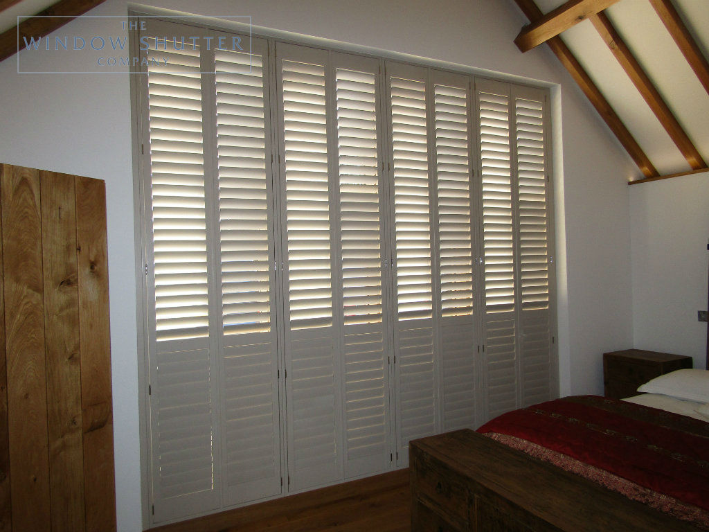 Bedroom Shutters For Stunning Barn Style Conversion In