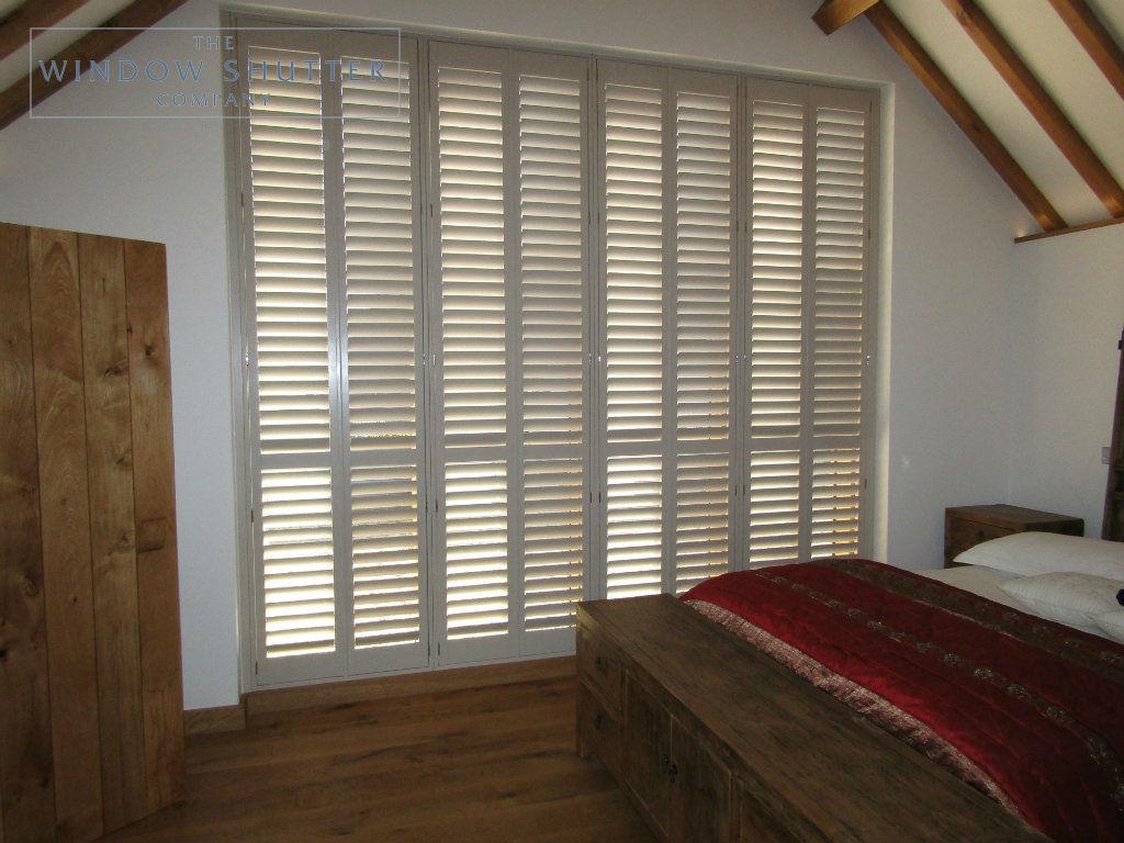 Full height shutter Boston Premium easy tilt bedroom barn conversion Henfield West Sussex 5 0917