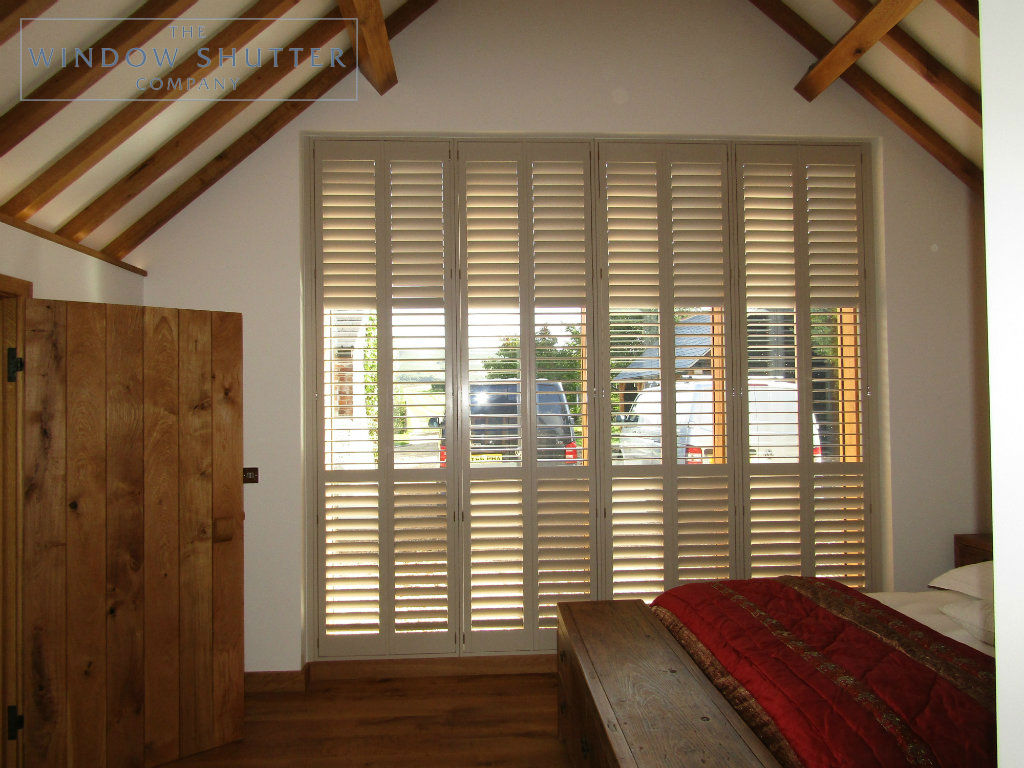 Bedroom shutters for stunning barn style conversion in ...